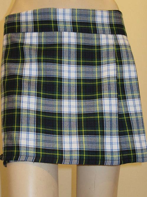 Dress Gordon Plaid Ladies Mini Kilt~ Highland Games Green White Plaid kilt