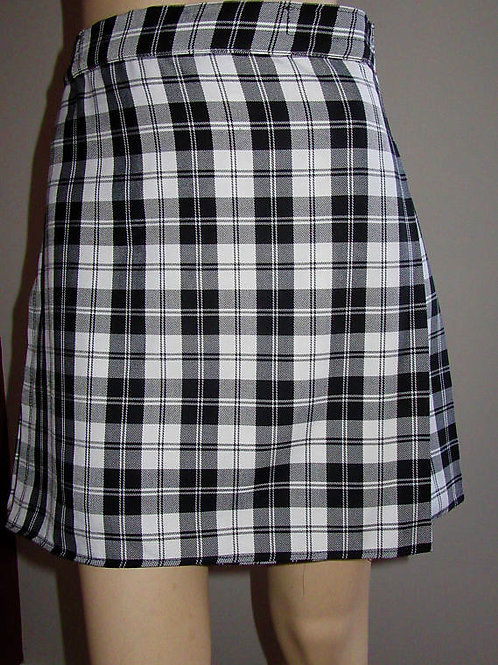 Menzies Black White Plaid Ladies Kilt