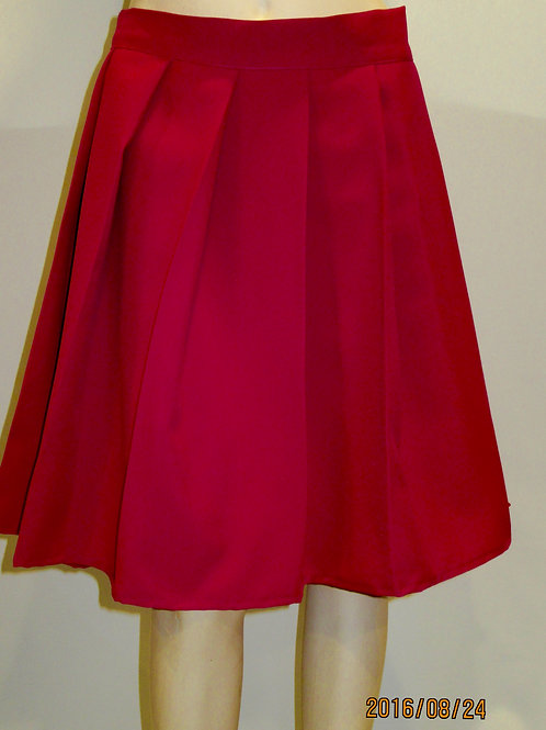 Scarlet Red Pleated Plaid Skirt~Office wear Red Skirt~Plus Size Skirt