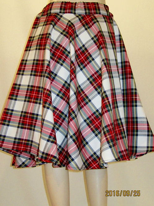 Dress Stewart Plaid Tea Length Skirt~Full Circle Tea length Skirt~1950's Swingin