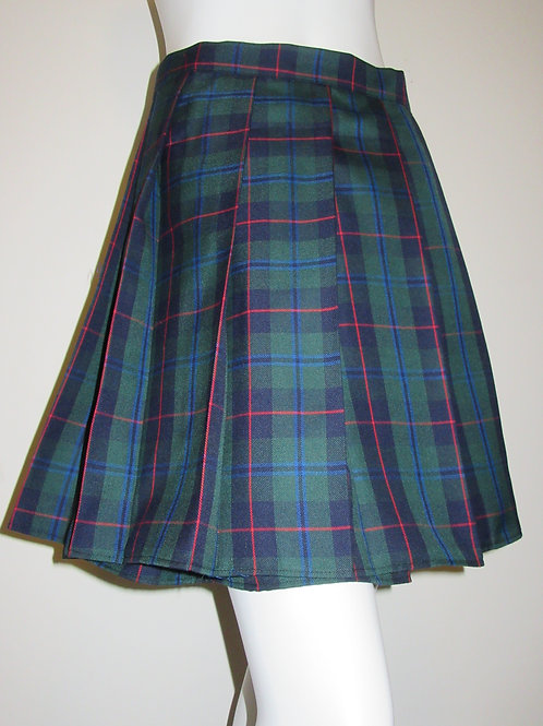 Armstrong Tartan Green Red Black Plaid Pleated Mini Skirt Cosplay Skirts
