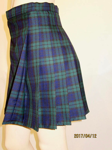 a18f73221 Black Watch Ladies Kilt~Black Blue Green Plaid ~ Wedding Kilt