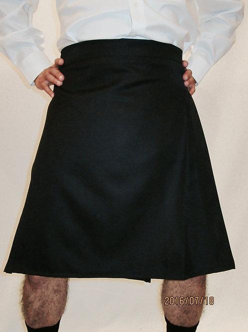 Men's Solid Black Kilt~Plus Size Custom make Canadian Made Plaid Kilts
