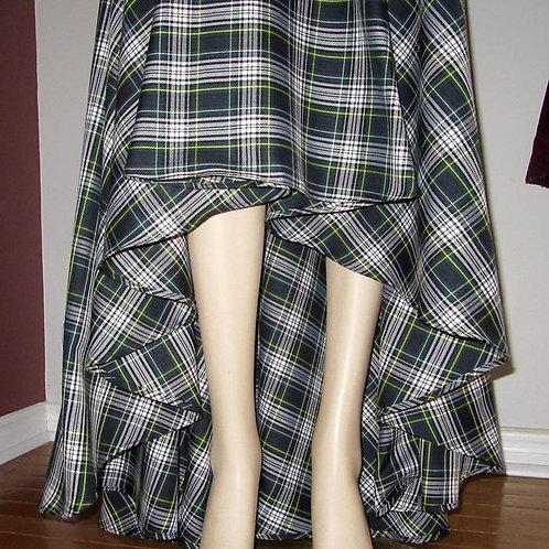 All Plaid Colours Available~Dress Gordon Plaid High Low Plaid Circle Skirt~