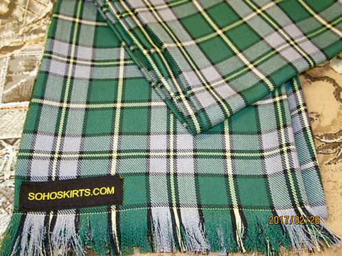 Cape Breton Plaid~Green Yellow Men's Fringe Scarf~Custom make Fringe Scarf