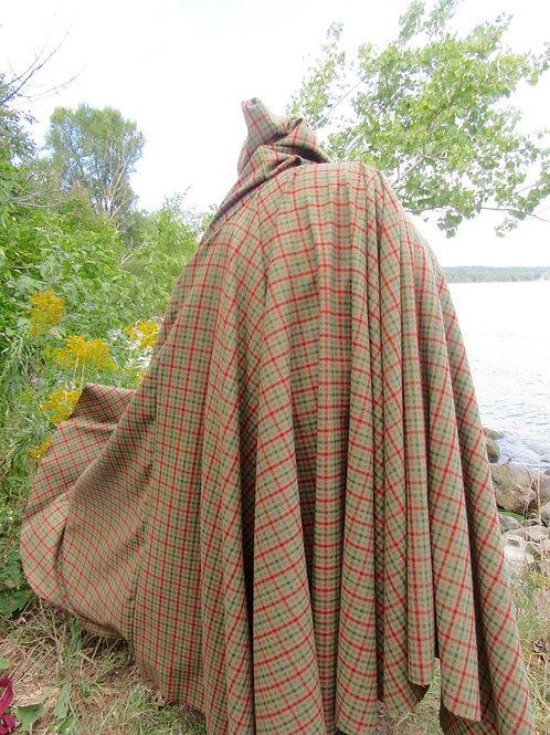 Pure Wool Winter Cloak, Camping Cloak,Made in Canada Cloaks