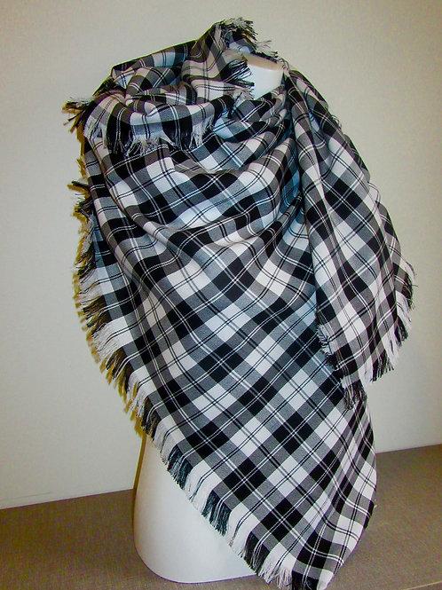 Menzie Black Blanket Scarf