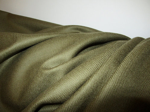 "Olive Color PURE WOOL Fabric, 60"" X 62"" Long pieces, Pure wool Fabric"