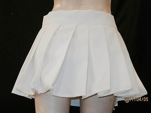 Solid White Pleated Plaid Skirt~Wrap Around Summer Skater Skirt