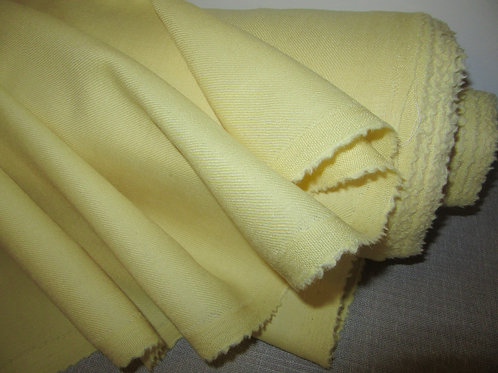 "PURE WOOL Fabric, Lemon Yellow Colour Pure Wool Fabric~60""X 58"" Long"