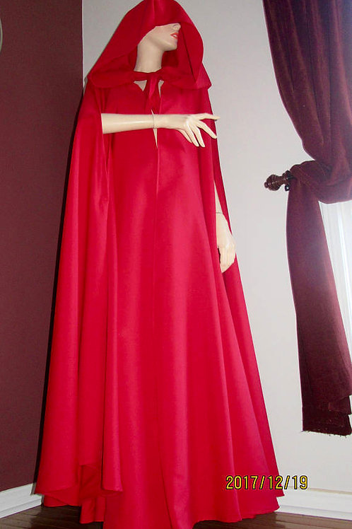 Red Handmaid's Tale Cloak~Hooded Slit Arm Cloak~Halloween Cosplay Cloak~