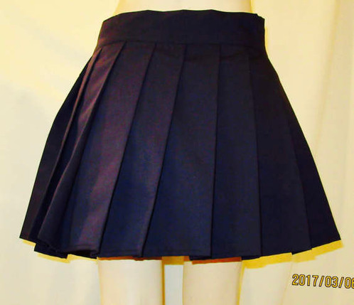 Dark Navy Pleated Mini Skirt~Plus Size Navy Blue skirts~Small to ...