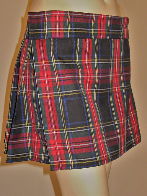 Black Stewart Mini Kilt~Ladies Mini Kilt~Tap Dance Kilts in Red Black Plaid