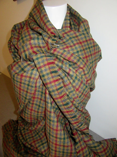 Pure Wool Blanket Scarf~  Warm Tweed