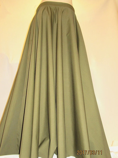 Army Olive Green Full Circle Skirt ~ Summer Cool Breeze