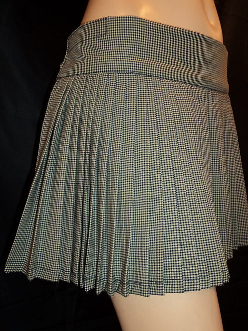 Gingham Blue Pleated plaid skirt` Small to plus size Skater Cosplay skirts