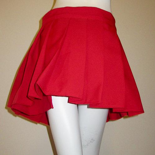 Wrap Around Style Red Hot Pleated Mini Skirt~Plus Sizes Custom make Skirt