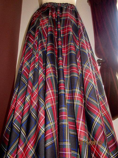 Black Stewart Floor Length Full Circle Skirt