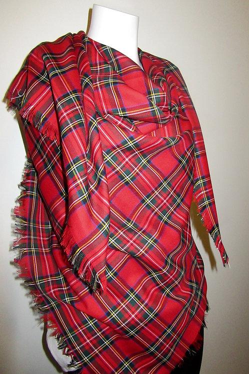 Royal Stewart Tartan Blanket Scarf
