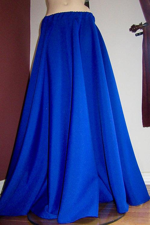 Royal Blue Full Circle Skirt- Maxi Skirts ~
