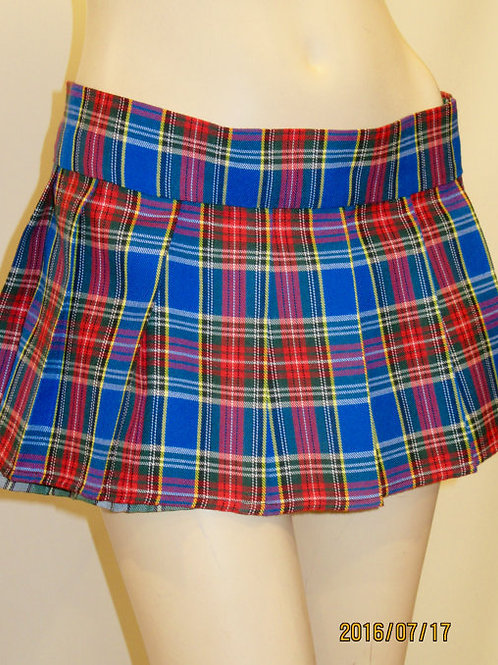 Blue Red ~Tartan Mini Skirt - 2 Sizes