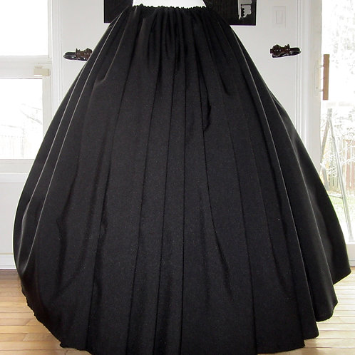 Gathered skirt Renaissance Skirt Civil War Black Skirt Renaissance Costume Plus