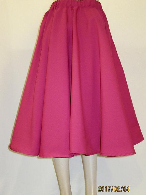 Pink Colour Full Circle Skirt~Tea length Skirt~1950's Swinging Style Skirt~
