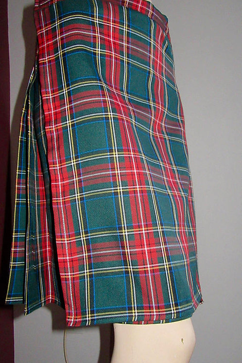 Green Stewart Ladies Kilt~Small to Plus Size