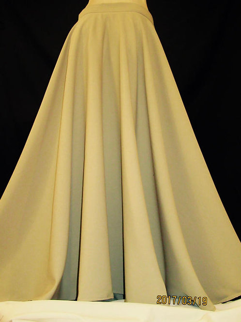 Khaki Full Circle Skirt~French Toast long Ankle length skirt~