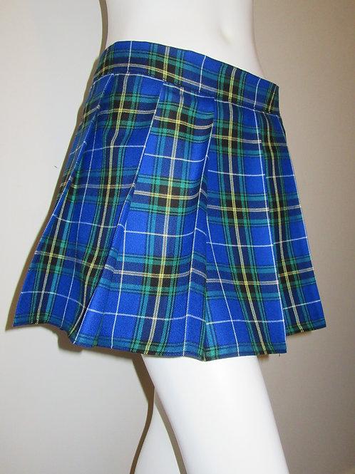 Nova Scotia Plaid Mini Skirt~Blue Black Plaid Beach Wear Plaid Skirt