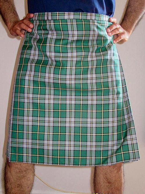 Men's Cape Breton Custom Made Kilt~St,Patrick DayGreen Plaid Kilt~Plus Sz