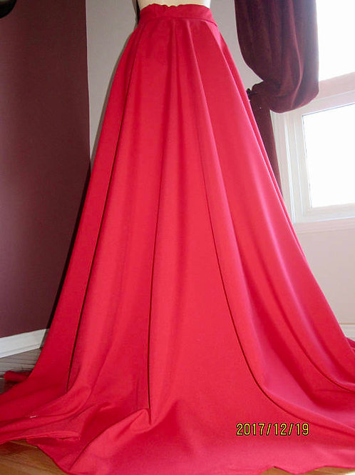 Spicy Red Full Circle Skirts & Knee Length