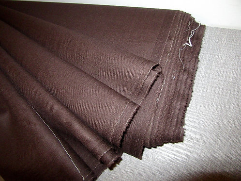 "Mocha Brown Colour PURE WOOL Fabric, 60' X 60""~"