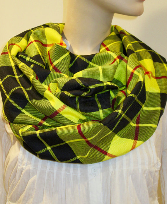 MacLeod of Lewis Tartan plaid Infinity Scarf Custom Make (3)