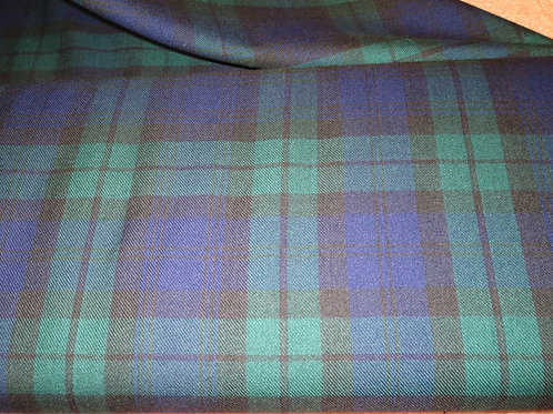 Black Watch Plaid Fabric By Yard