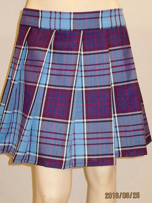 RCAF skirt~Tartan plaid pleated skirt~Plus Size Plaid Skirts~Maroon Blue Skirt