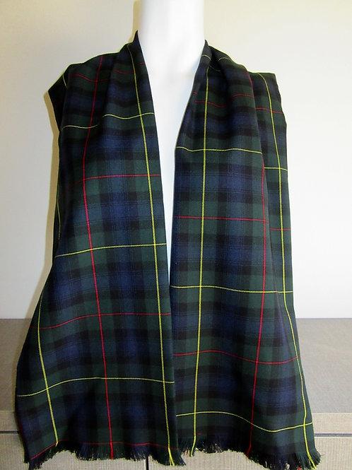 MacLeod of Harris Tartan Plaid Fringe Scarf~Christmas Gift scarf~Grey Green S