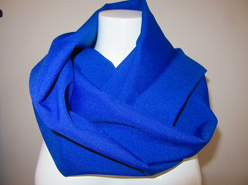 """Royal Blue Color Infinity Scarf~59"""" Long Infinity Scarf~Blue Scarf"""