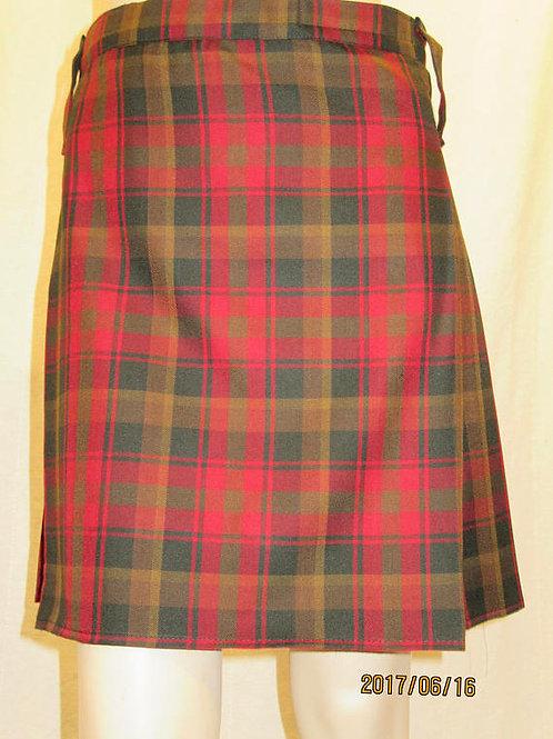 Maple Leaf Tartan Plaid Ladies Kilt ~Gold Brown Plaid Back Pleated Ladies Kilt