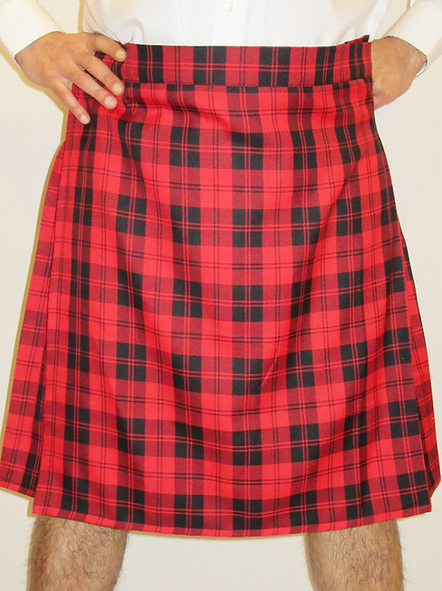 Menzies Red Tartan Plaid Kilt Men's Kilt~Red Black Plaid Kilts~Plus Size Kilts~