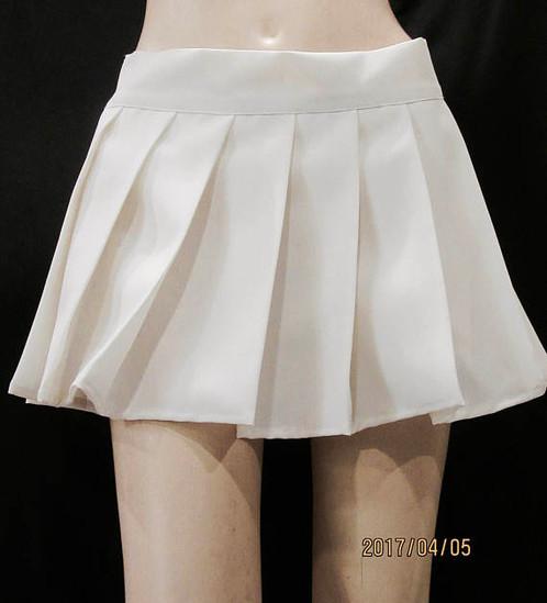 Solid White Beach Wear ~ Pleated Tennis Skirt~School   Mini Skirts ...