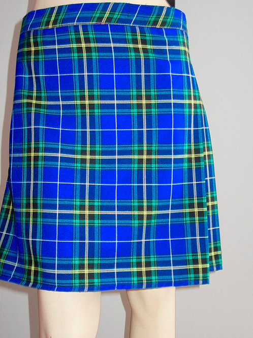 Ladies Nova Scotia Tartan Kilt~Blue black Nova Scotia Plaid Kilt