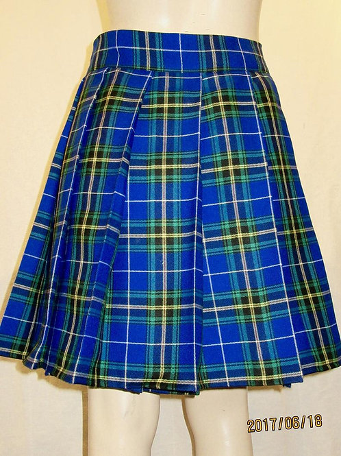 Nova Scotia Tartan Plaid Pleated Skirt~Black Blue Plaid Skirts