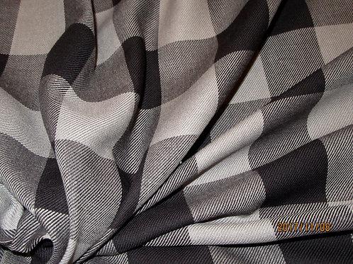 Buffalo Plaid Fabric By Yard~Black Grey Plaid Fabric