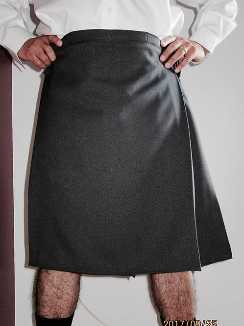 Men's Grey Color Custom Made Kilt