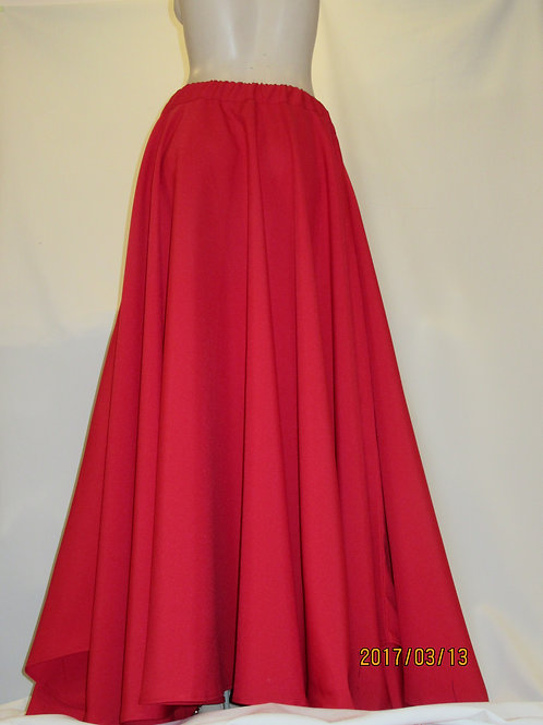 Hot Red Colour Full Circle Skirt~Bridesmaid Red Skirt~Prom Skirt