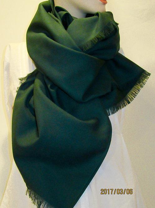 Dark Green Wool Blend Blanket Scarf/Wrap/Shawl~Bridesmaid Green Wraps, Shawls