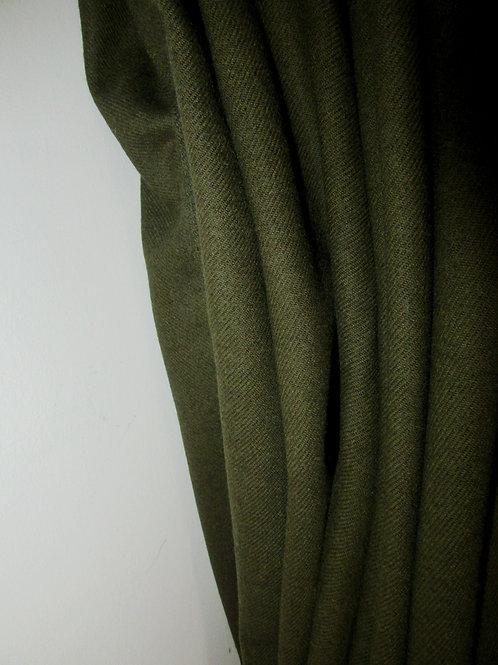 Army Green Pure Serge Wool Fabric, Green Pure Wool Fabric