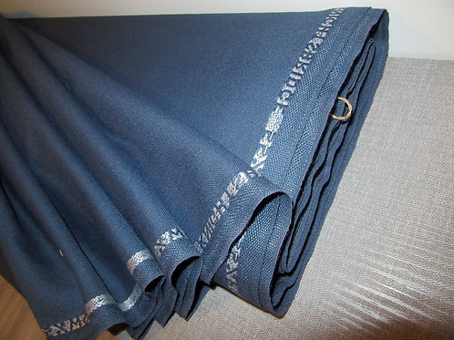 Blue Wool Blend Fabric, By Yard Fabric, Wool Fabric