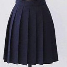 Navy Colour Plaid Pleated Skirt~small to Plus size school Girl Uniform Skirt